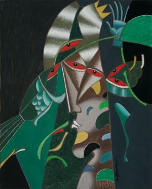 Король, 2003, п.т., 100х80