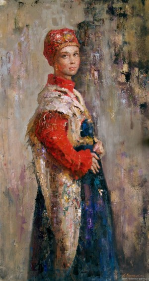 Girl In Kokoshnik, 2005, 150x80