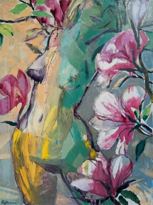 Magnolia Flower', oil on canvas, 60x80