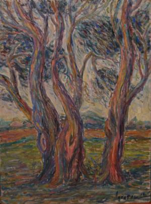 Trees 2013 oil on masonite 60x45