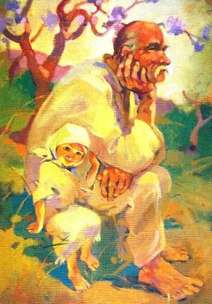 Мій дідик, 2002, п.о., 70х50