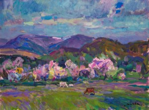 Spring in The Mountains, 2011, acrylic on masonite, 60x80