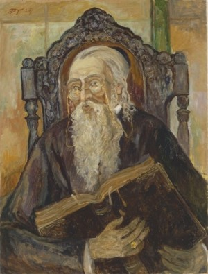 Портет равина, 2007, п.о., 80x60