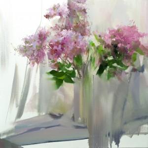 Lilacs 2017oil on canvas 80x80.