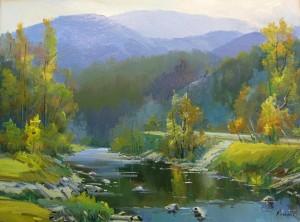 Кришталевий гірський потік, п.о., 60х80