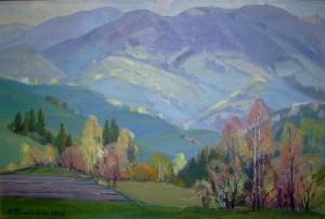 Вид на гори, 1992, 58х87