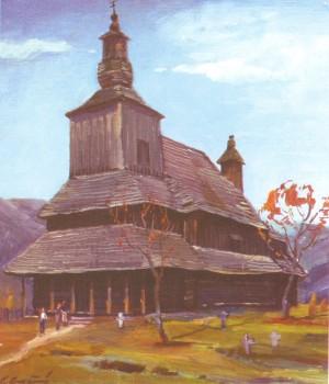 Церква св. Василія (1777 рік) с. Сіль, 1983, п.о., 70х60