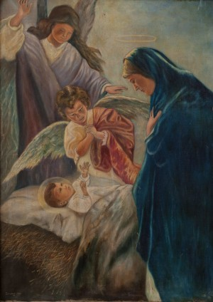 I. Silvai Birth Of Christ', oil on canvas
