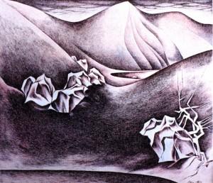 Озеро Велика Герешаска», 1987, пап.акв.гуаш, 14,5х18