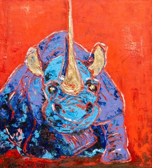 'Impudent', 2018, oil on canvas, gilding, author's technique, 110x100
