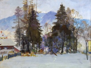 Winter Scenery, 1960, oil on canvas, 69x90