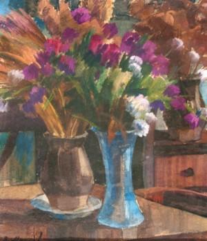 Натюрморт зі скляною вазою, 1995, к.т. 47х40