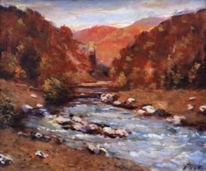 Осінній пейзаж з річкою, 1978, 50x60