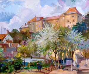 Near the Castle In Spring, 2006, oil on canvas, 70x60-2