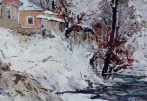 Winter Scenery, 1960, oil on canvas, 49x70