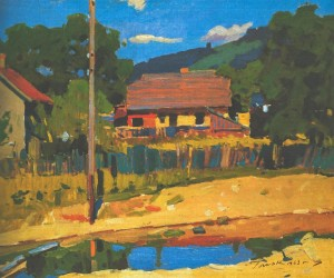 Edge Of The Village, 1963, oil on canvas, 61,5х74
