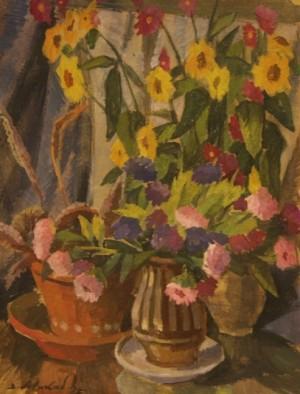 Натюрморт з квітами, карт.о. 1995, 50х38,5
