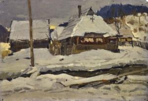 Зимова вуличка, поч. 1950-х, к.о. 35,5х50,5
