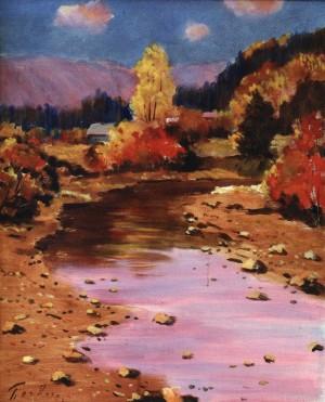 Осінній пейзаж з річкою, 1982, 60x50