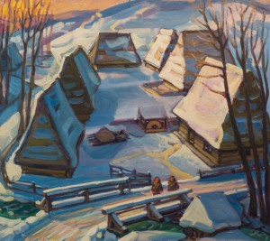 Winter, Richka Village, 2016, oil on canvas, 80,5х90