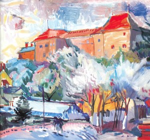 Near the Castle In Spring, 2006, oil on canvas, 70x60