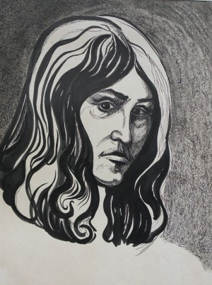 Ворожка, 1980, пап. туш, 47х62