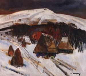 Зимове село, сер. 1980-х, п.о. 75х85
