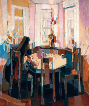 Musical Interior, 2002, oil on canvas, 60x50
