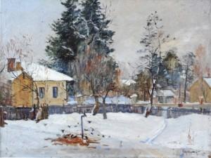 Зимове село, 1960, п.о., 91х115
