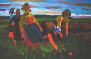 Field-team, 1973, oil on canvas, 112,5х175,5