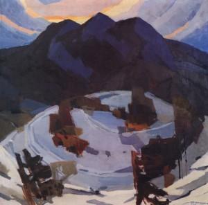 Зимовий вечір, 1966, п.о. 100х100