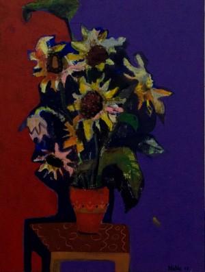 N. Moskalova-Lakatosh. Sunflowers, 2017