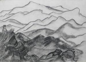 Дівчинка в горах, 1984, паст., 62х42