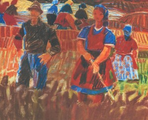 Field-team Leader, 1971, pastel on paper, 37х47