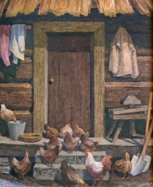 На сходах старої хати, 2004, орг.о.т. 118х98