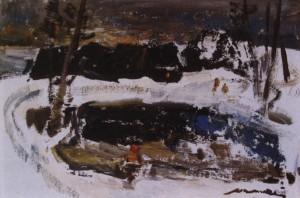 Зимовий вечір, 1980-ті, к.о. 28х42