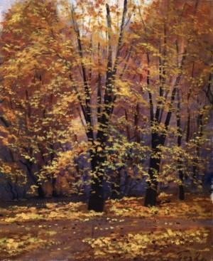 Осінній пейзаж, 1991, 60x50
