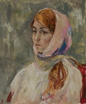 Anna Zbarazhska. Portrait. 2017. 50х60