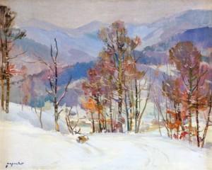 Зима, 1960, п.о., 80х100