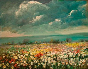 Flower field (Created directly before the artists death), oil on canvas, 76x95
