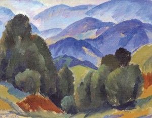 На Синевирському перевалі, 1988, к.о. 39,5х50