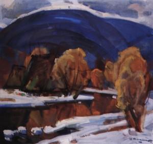 Зимовий вечір, 1984, п.о. 70х75