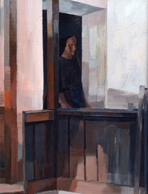 On The Porch. Solitude, 1988, oil on canvas, 80x60
