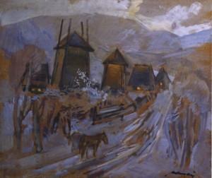 Зимовий вечір, поч. 1980-х, к.о.т. 59х70