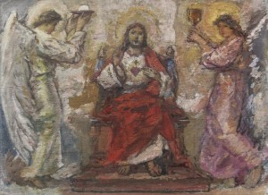 The Eucharist, 1960s, oil on cardboard, 34,5х47