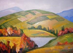 'Осінь в Карпатах', 60х80