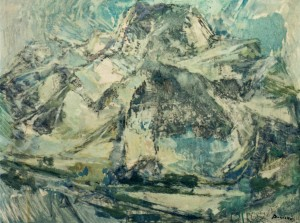 Snowy Tatras Mountains, 1980, oil on cardboard, 60х80