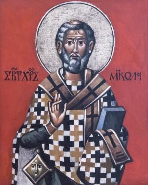 Скоп М. Св. Миколай, дошка, темп., 30х37