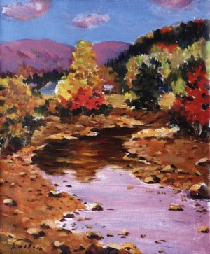 Autumn in Reflection, 1990, 60x50