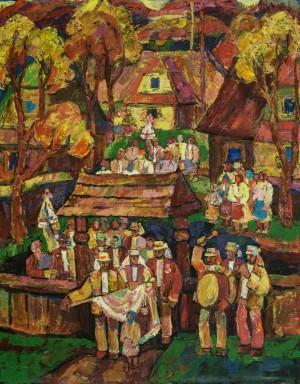 Verkhovynas Wedding, 1984, tempera on canvas, 100x80